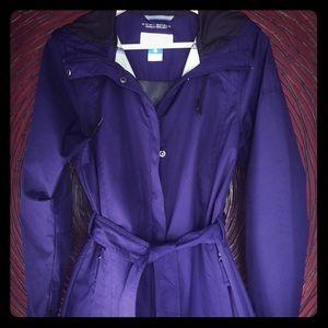 Columbia midi-trench raincoat